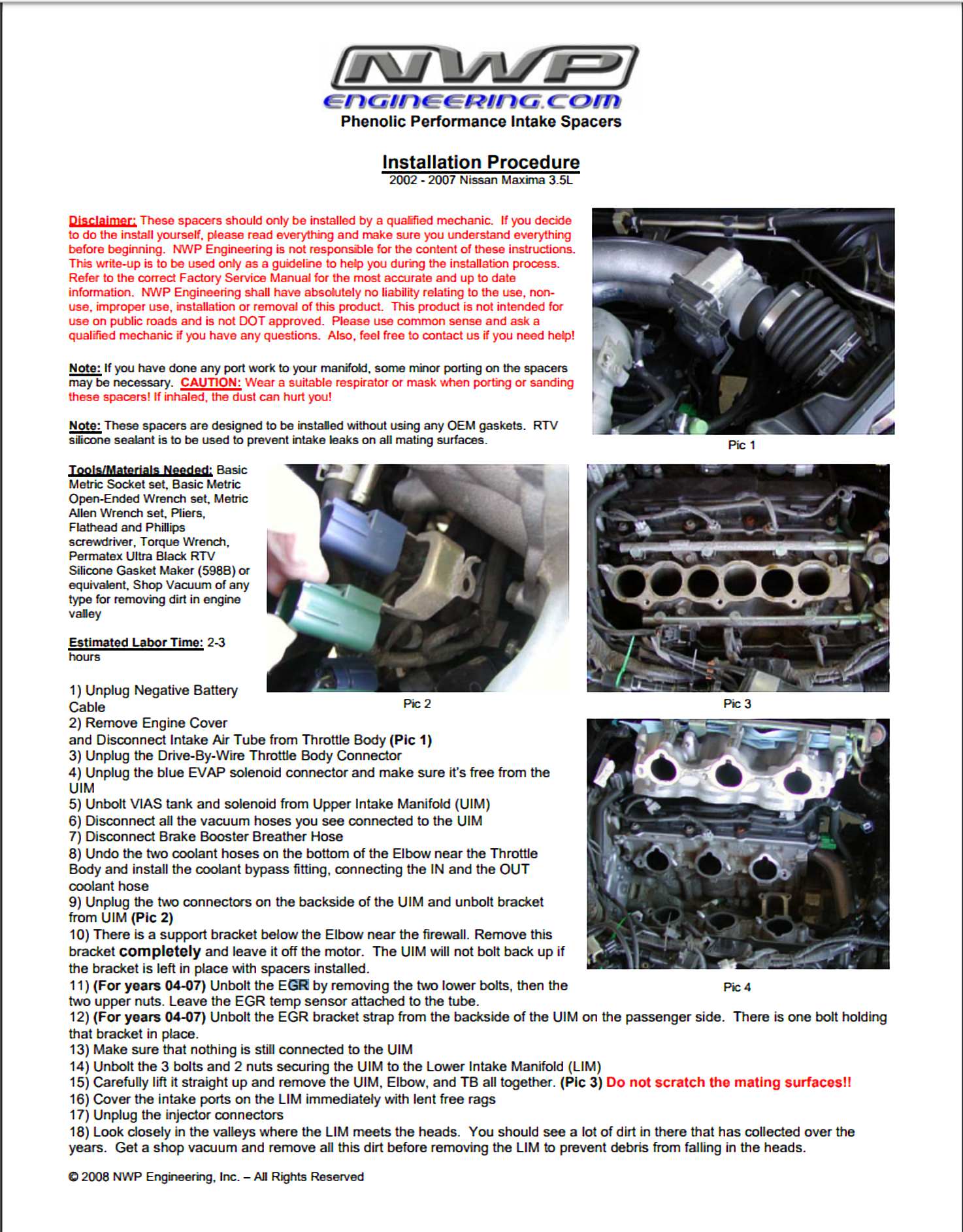 How To Install Nwp Phenolic Performance Intake Spacers