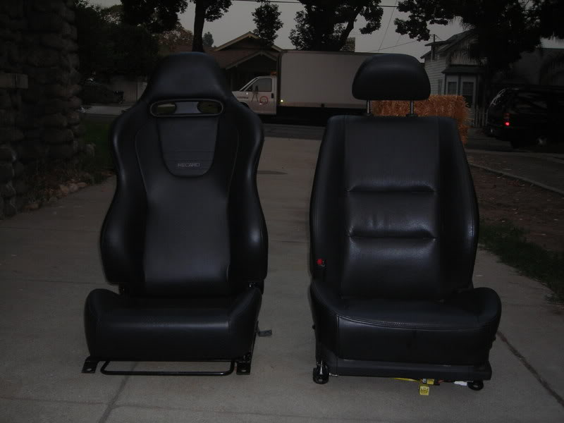 installing leather evo ix recaro seats on 6thgen maxima. Black Bedroom Furniture Sets. Home Design Ideas